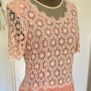 Vintage lace and pleat Dress